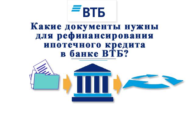 Какой пакет документов необходимо предоставить в ВТБ для рефинансирования ипотеки?
