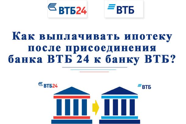 ВТБ24 — как выплачивать ипотеку после присоединения к банку ВТБ?